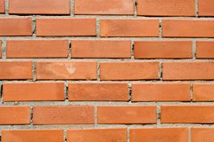Brick wall background. Background with red brick wall texture Stock Images