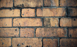 Brick Wall Background. Red Brick Wall Close Up Background Stock Images