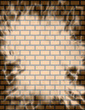 Brick wall Background. With a light overcast of lightning royalty free illustration