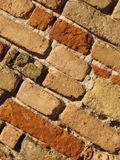 Brick wall background. A background of a brick wall in natural colors stock images