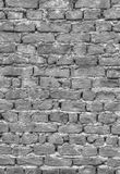 Brick wall background in black and white. Stylish brick wall background in black and white stock image