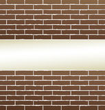 Brick wall background with blank place. Brown brick wall background with blank place for text Royalty Free Stock Photo