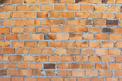 Brick wall background in construction site Stock Photography
