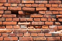 Brick Wall Background, cracked brick wall Stock Photography