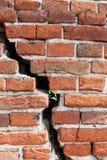 Brick Wall Background, cracked brick wall Stock Image