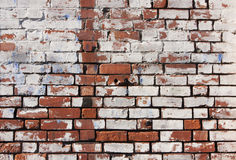 Brick wall background. Distressed and weathered brick wall Royalty Free Stock Photography