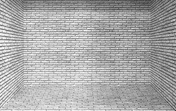 Brick wall background. Empty room and  brick wall background Royalty Free Stock Photo