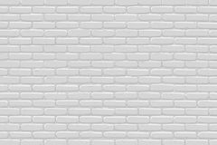 Brick wall background. Gray texture. Vector illustration Stock Photography