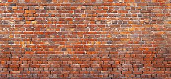 Old brick wall Background, texture of red brickwork. royalty free stock images