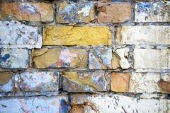 Brick wall. Background of an old brick wall in grunge style Stock Photography