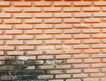 Brick wall. Background of old vintage brick wall Stock Photo