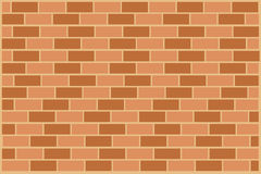 Brick wall. Background with orange brick wall Stock Images