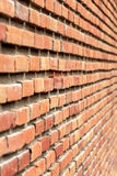 Brick wall Background, Perspective Stock Photo