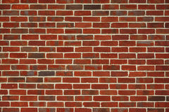 Brick wall background. Red brick wall background for design Stock Photos
