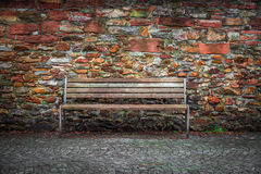 Brick Wall Background and Seat Royalty Free Stock Photos