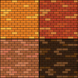 Brick wall background set Stock Images