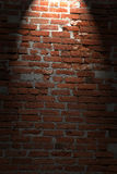 Brick wall background with shining light Royalty Free Stock Photo