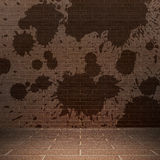 Brick wall. Background with stains dirty Royalty Free Stock Photos