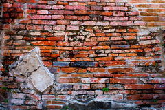 Brick wall. Background of Temple in Ayutthaya Thailand stock images