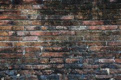 Brick wall Background of Temple in Ayutthaya Thailand. Stock Images