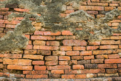 Brick wall background at the Temple. Old brick wall background at the twmple in Chiangrai province Stock Images