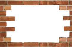Brick Wall Background Texture. A close up on an old brick wall background texture Stock Photography