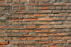 Brick wall background texture. Old brick wall background texture Stock Image
