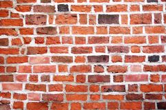 Brick wall background. A texture background ot the red brick wall Stock Images