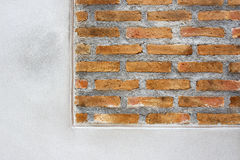 Brick wall background under construction Stock Photo