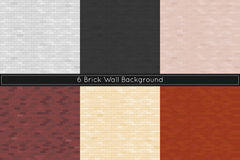 Brick wall background. Vector illustration. Stock Photography