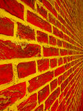 Brick Wall. Background in vivid colours Stock Photography