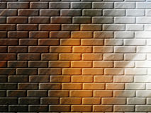 Brick Wall Background or Wallpaper. Abstract image resembling a brick wall for backgrounds or wallpaper. This would be good for a graffiti Stock Image