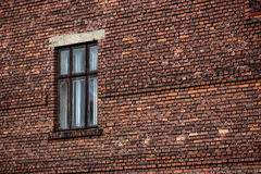 Brick wall background with window Stock Image