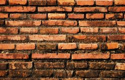 Brick wall backgrounds Stock Images