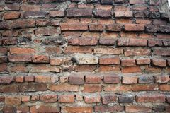 Brick wall. In Bangkok Thailand Stock Image