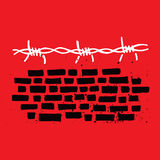 Brick Wall and Barbed Wire stock illustration