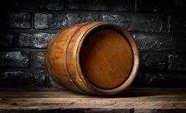Brick wall and barrel Royalty Free Stock Photo
