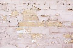 Brick Wall battered and abandoned Stock Photo