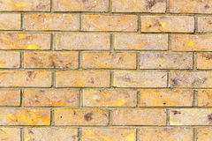 Brick wall. Beige texture. Royalty Free Stock Photo