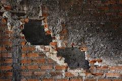 Brick Wall with Big Hole Gab Stock Photos