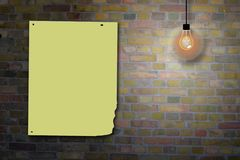 Brick wall billboard Royalty Free Stock Photography