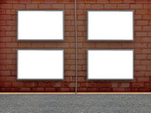 Brick wall with billboard Royalty Free Stock Photography