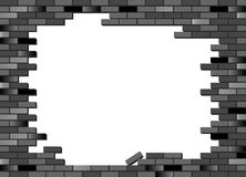 Brick wall black Royalty Free Stock Photography
