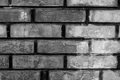 Brick wall. Black brick wall old rusty Stock Images