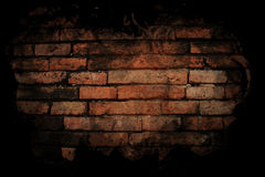 Brick wall with black paint. Royalty Free Stock Image