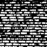 Brick wall, black and white relief texture with Stock Photos