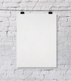 Blank poster Stock Image