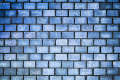 Brick wall of blue color, the texture of the stone surface Stock Photography