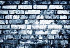 Brick Wall in Blue Tones Stock Photos