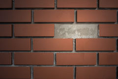 Brick wall with break space. Modern brick wall with break space to highlight Stock Images